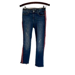 INC International Concepts Skinny Fit Frayed Jeans
